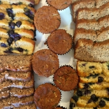 Bannana Bread, Zucchini Muffins, and Lemon Blueberry Cake