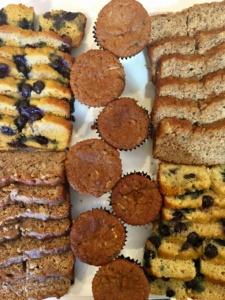 Bannana Bread, Zucchini Muffins, and Lemon Blueberry Cake