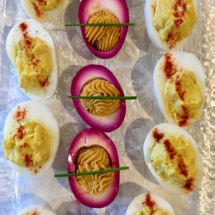 Deviled Eggs and Beet Pickled Deviled Eggs