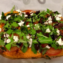 Sweet Potato Crusted Pizza
