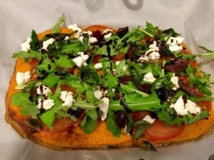 Sweet Potato Crusted Pizza