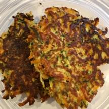Sweet Potato Zucchini Latkes